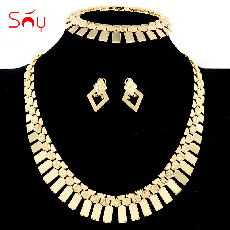Ювелирные изделия Sunny Jewelry в богемном стиле, комплект ювелирных изделий, ожерелье, серьги, браслет для женщин, свадебная бижутерия, фурнитура