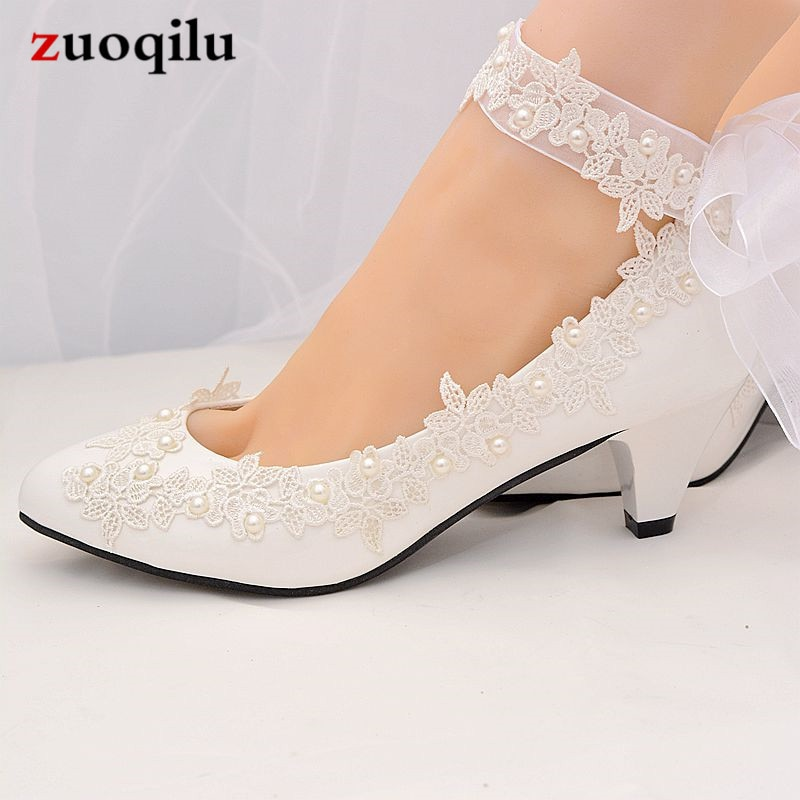 2020 zapatos de boda blancos Mujer tacones altos con correa de tobillo bombas mujeres zapatos damas zapatos de novia mujer chaussure femme talon #68