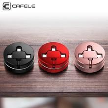 CAFELE-Micro câble de chargement 3 en 1   Câble de synchronisation de données, pour iPhone X XS MAX, câble rétractable pour Huawei Samsung