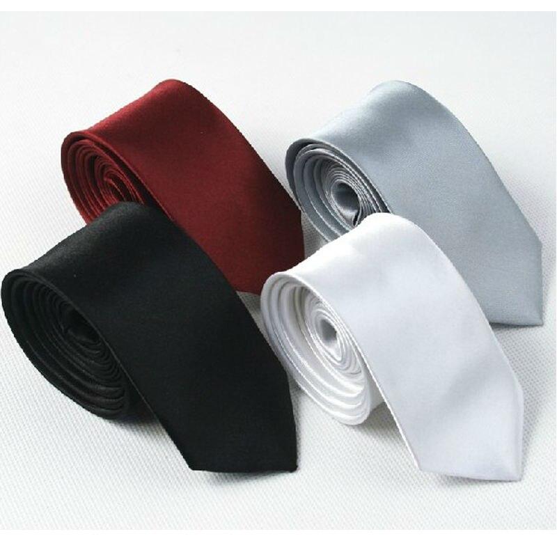 Dos homens novos sólidos magro laços Gravatas de poliéster Clássico mulheres Moda Mans Tie 2014 primavera xadrez preto vermelho cinza 5 cm de largura gravata