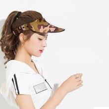 Casquette visière femmes hommes pare-soleil Absorption de sueur néoprène pointe chapeau en plein air Fitness vêtements de sport casquette
