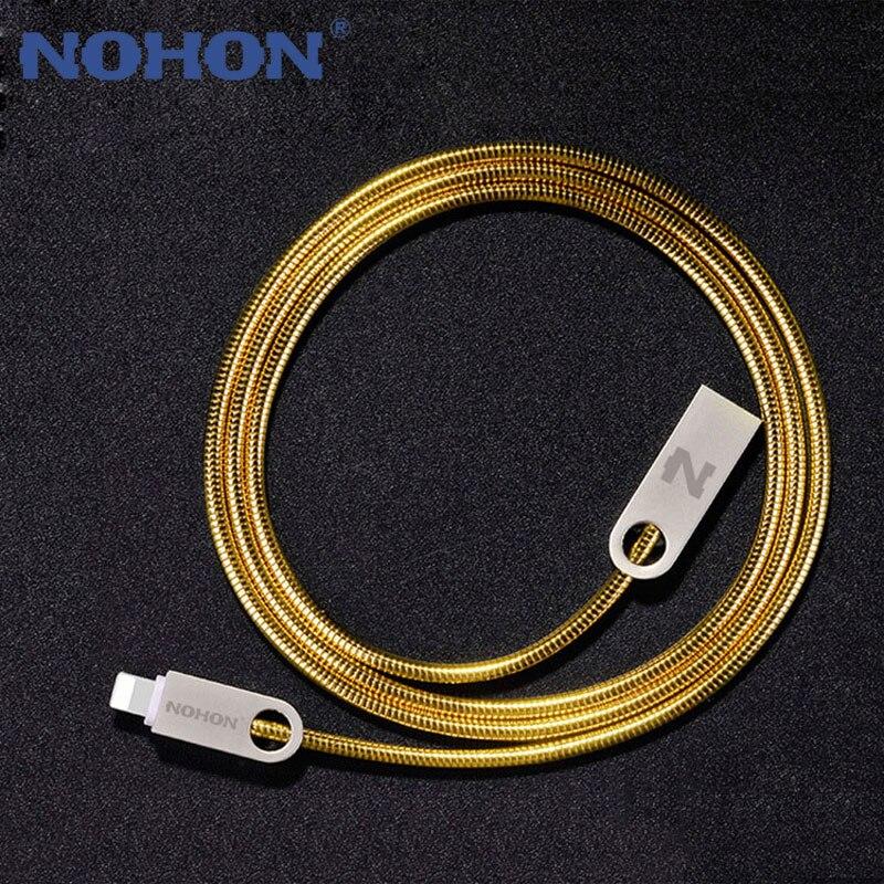 Original nohon metal 8pin cabo usb para iphone 8 7 plus 6 s 5 5S 6 plus apple ipad mini 2.0a carga rápida sincronização de dados cabos de telefone