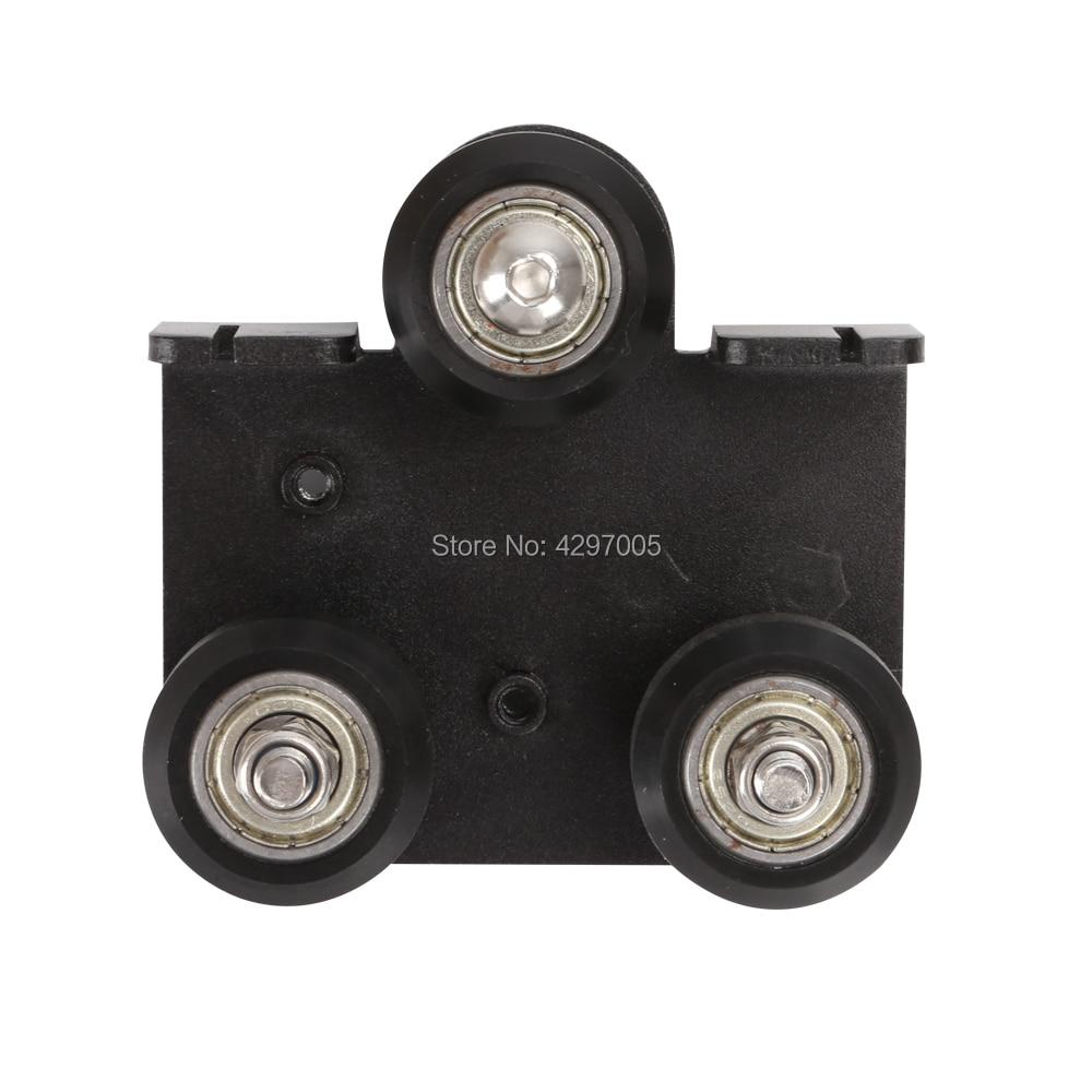Creality, piezas de impresora 3D, Kit de rueda, placa de soporte posterior extrusora con polea para CR-10, CR-10S, Serie de impresoras 3D