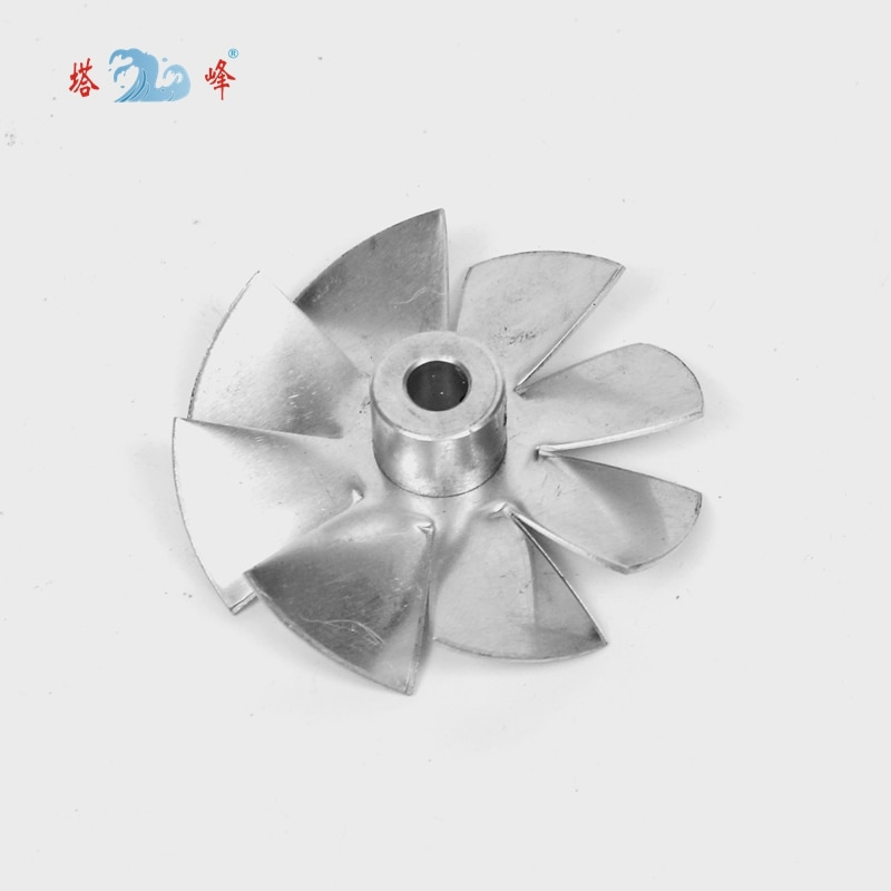Фото - small axial fan aluminum high temperature cooling fan blade metal vane 70mm diameter 6mm shaft 17cm 230v 45w for ebmpapst w2s130 ab03 24 all metal high temperature resistance fan