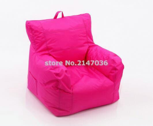 Con bolsillo lateral y mango de diseño big joe pink, muebles de sillón de tela a la moda, sillón de bolsa de haba para relajación