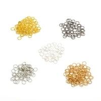 200pcslot 6mm wholesale loop gunmetal silver gold color rhodium open jump rings split rings diy for jewelry findings connectors