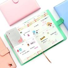 Neue Ankunft Wochenplaner Süße Notebook Kein Jahr Grenze Kreative Student Zeitplan Tagebuch Buch Farbe Seiten Schulbedarf