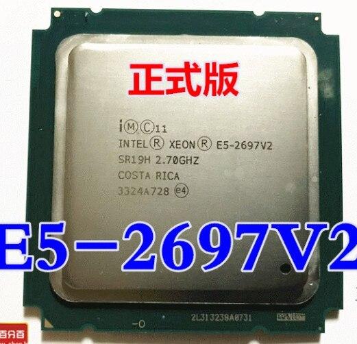 Процессор Intel xeon e5 2697 v2 2,7 GHz 30M QPI 8GT/s LGA 2011 SR19H C2 E5-2697 v2 CPU Процессор E5 2697 V2