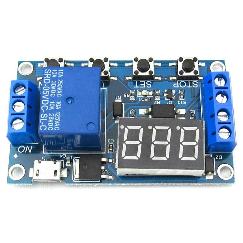 5 в микро USB цифровой светодиодный триггер Автоматизация задержки цикла таймер управление переключатель релейный модуль Дисплей