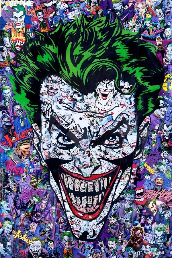 "Joker-Batman Arkham juego arte psicodélico de seda póster para sala decoración de puerta 12 ""x 18"" 20 ""x 30"""