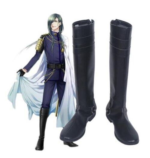 أحذية تنكرية للرجال البالغين من Touken Ranbu Online Nikkari Aoe ، أحذية تنكرية ، إكسسوارات حفلات الهالوين