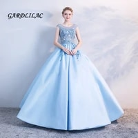 hot sale blue quinceanera dresses 2019 lace appliques beaded ball gown long prom gown puffy sweet 16 dress for 15 years