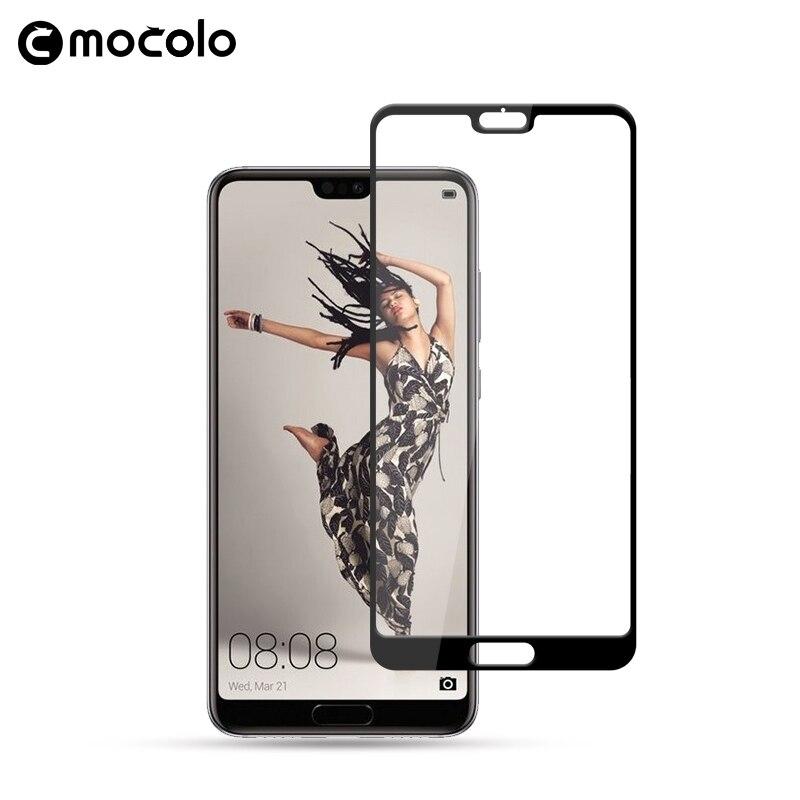 Mocolo 2018 nueva pantalla cristal Protector para Huawei P20 de vidrio templado 9H para Huawei P20 Lite P20 Pro película de vidrio de la cubierta completa