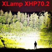 8000lm plus puissant lampe de poche LED XLamp xhp70.2 Zoom usb torche xhp70xhp50chasse rechargeable flashlight18650 ou 26650 batterie