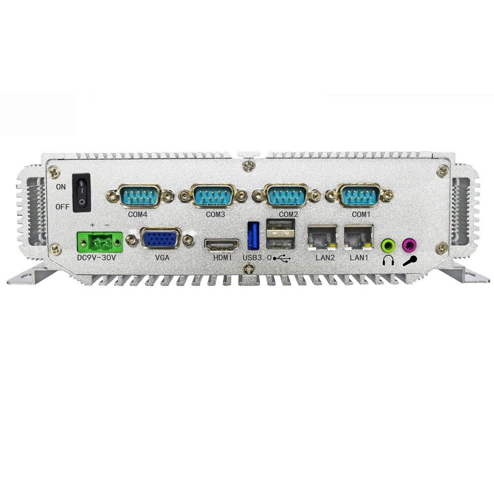 الكمبيوتر الصناعي 4GB سعة الذاكرة إنتل j1900 وحدة المعالجة المركزية رباعية النواة معالج داخلي العلامة التجارية جهاز كمبيوتر صغير Win 7/Win 10/Linux