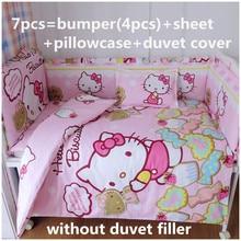 Juego de cama para cuna de bebé, 100% algodón, 120x60/120x70cm, 6/7 unidades
