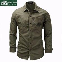 Offre spéciale marque militaire chemise hommes solide 100% coton décontracté respirant à manches longues coupe cintrée Camisa Masculina hommes chemise taille M-3XL