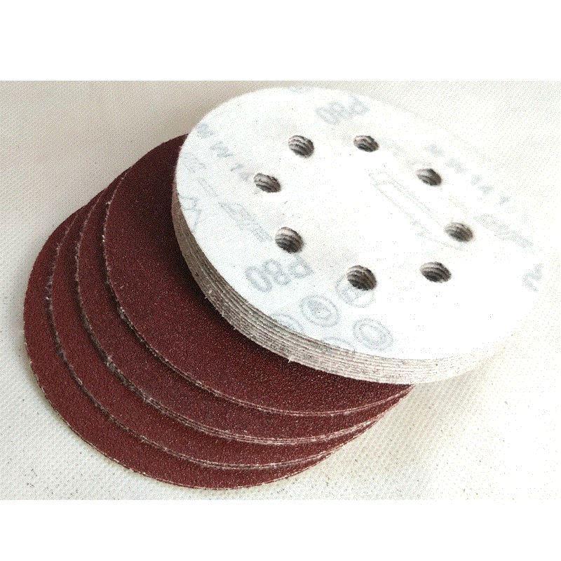 20 piezas 5 pulgadas 125 mm papel de lija redondo disco de ocho - Herramientas abrasivas - foto 2