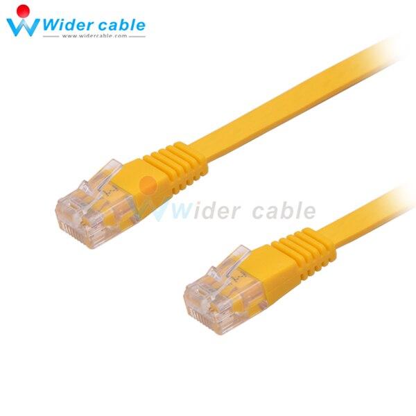 5 pçs/lote 1 M CAT5e RJ45 Cabo Plano UTP 10/100/1000 Mbps Ethernet Cabo de Rede Patch Cable para PC Router Cor Amarela