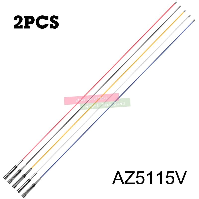 2 قطعة الألياف الزجاجية عززت البلاستيك ل سيارة اسلكية تخاطب VHF 136-174Mhz المحمول سيارة اتجاهين راديو هوائي طويل هوائيات