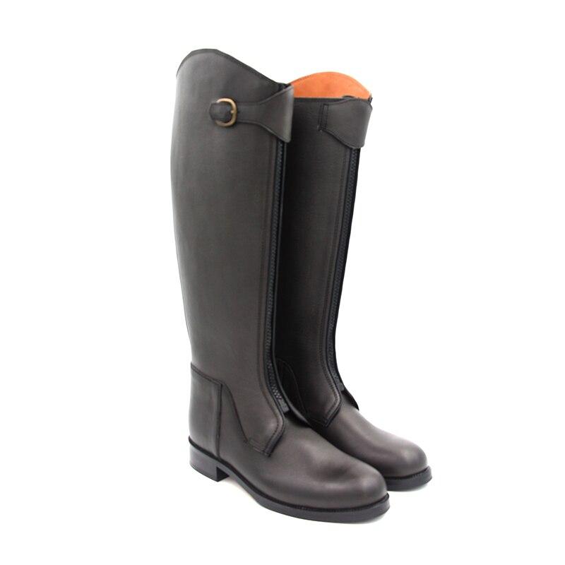 Aoud botas para montar a caballo cuero completo forro de cuero doma botas ecuestres Unisex personalizado equitación equipo