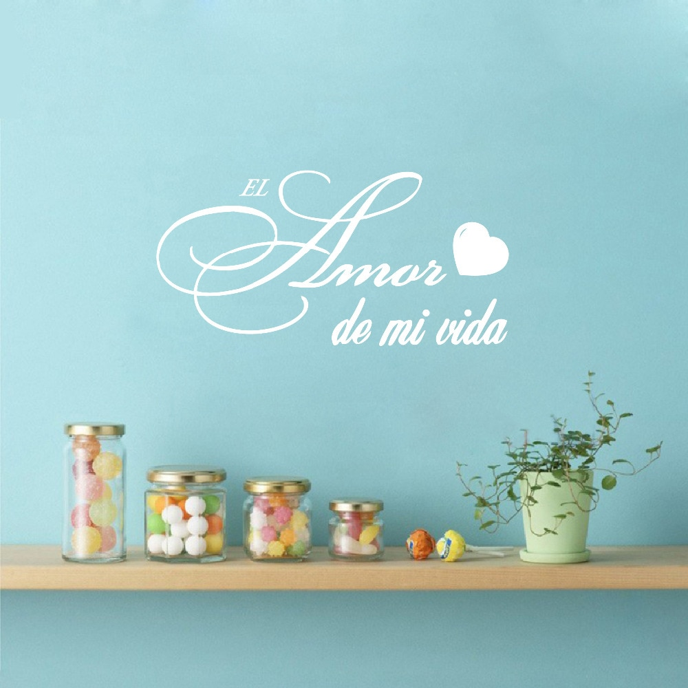 Versión Española Amor de mi vida cita pegatina vinilo pared arte pegatinas, el AMOR DE MI VIDA etiqueta DE la pared