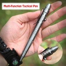 Многофункциональная тактическая ручка для самозащиты, болт-переключатель, шариковая ручка из алюминиевого сплава, аварийный стеклянный выключатель, EDC инструмент, подарочная коробка