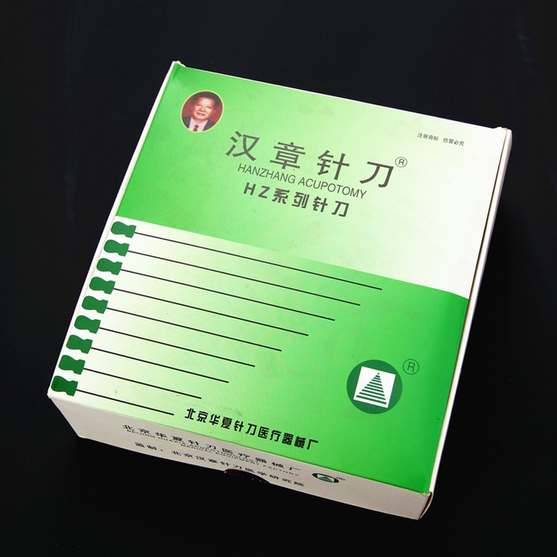 100 pces 0.4/0.5/0.6/0.8/1mm hanzhang acupuntura agulha acupotome faca agulha estéril pequena lâmina agulha