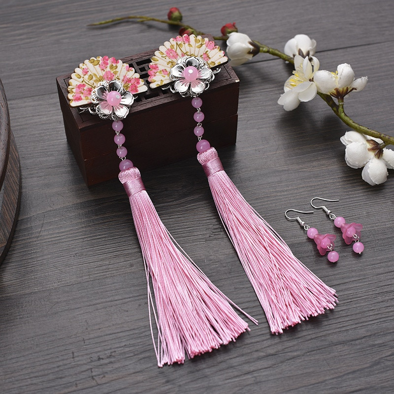 vintage hair flower for women chinese ancient dynasty hair accessories ancient hair clip princess cosplay classic vintage hairpin hair accessories princess hair flower chinese ancient princess hair decoration han dynasty wear