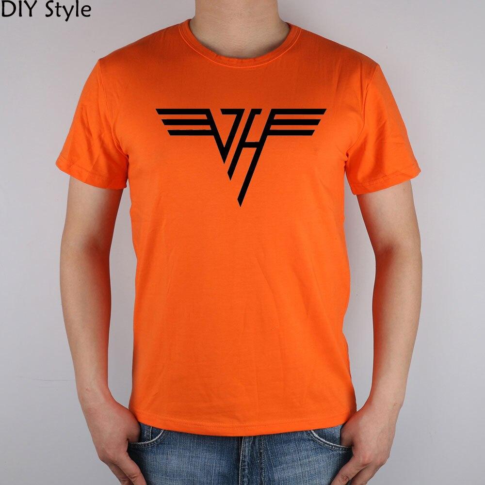 ROCK N ROLL BAND VAN HALEN T-shirt bawełniany top z lycry