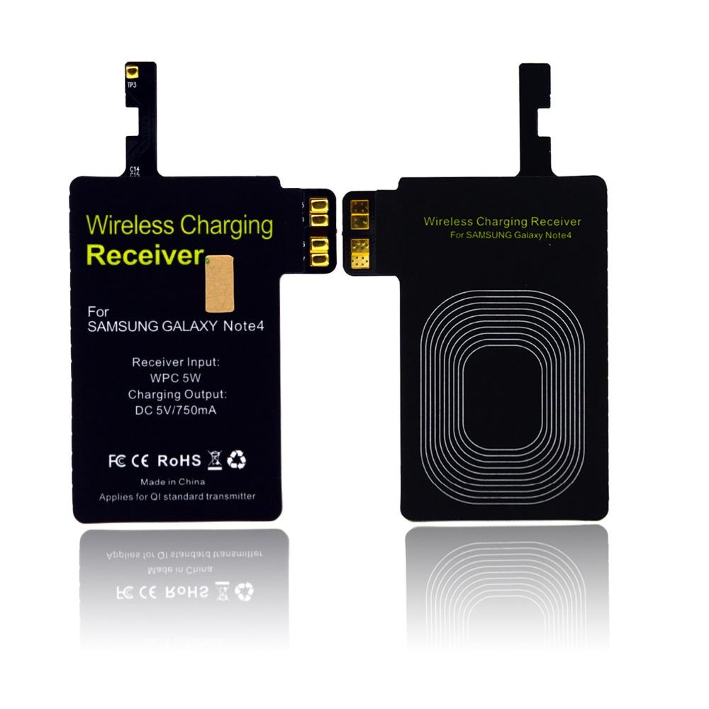 Besegad QI Беспроводное зарядное устройство для зарядки, блок питания, приемник внутри для Samsung Galaxy Note4 carregador sem fio cargador inalambrico