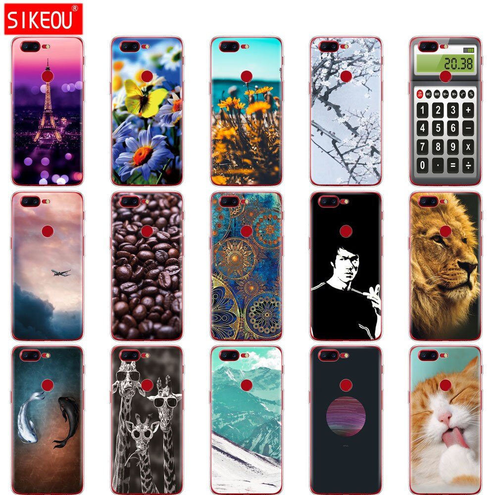 Silicone Case For Oneplus 5T 5 3 Cover Soft Case Phone Bag For One Plus 5 5T 3 Coqa 1+ 5 5t Funda Print Painted Shells