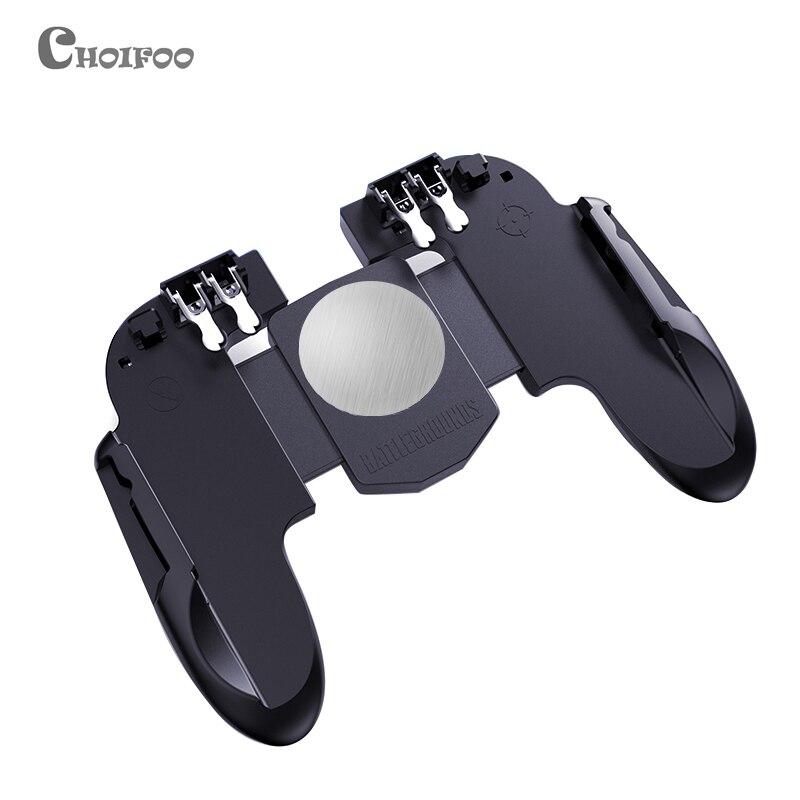 Новый шесть пальцев все-в-одном PUBG мобильный игровой контроллер бесплатная Кнопка Fire Key Джойстик Геймпад L1 R1 PUBG триггер лучше, чем AK66