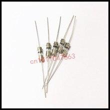 50PCS Slow break fuse tube 3.6*10 1A 3.6*10mm 1A 1000MA double cap with lead T1AL250V 1AL250V glass fuse