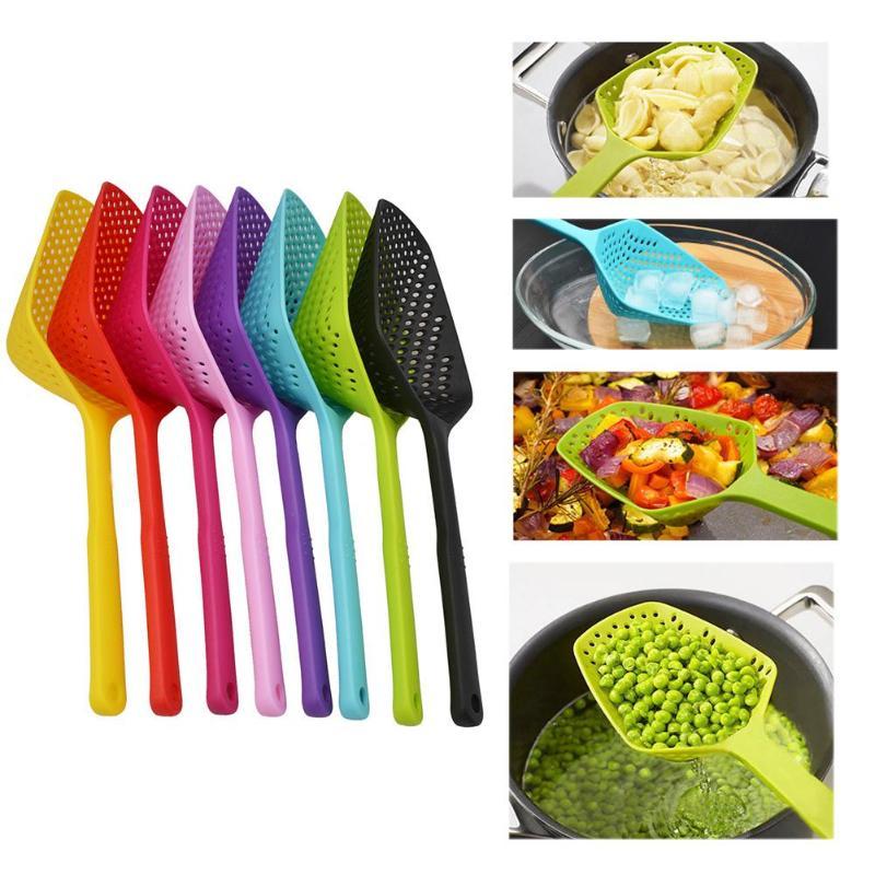 1 pieza de coladores de plástico antiadherente para escurrir, pala para fugas de agua, pala para hielo, coladores para vallas de pesca, utensilio de cocina, herramienta de cocina
