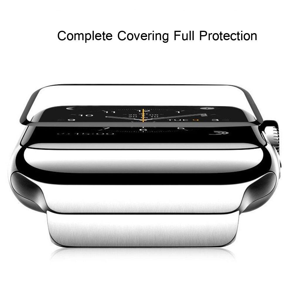 4D полное покрытие мягкая защитная стеклянная пленка для экрана 40 мм 44 мм для Apple Watch 42 мм 38 мм для iWatch Series 5 4 2 3