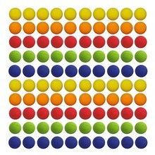 100 pcs 다채로운 재미 있은 공 eva 거품 골프 부드러운 공 리필 장난감에 대 한