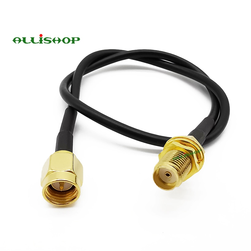 ALLiSHOP 0-3Ghz pigtail SMA macho enchufe de broches a SMA hembra enchufe jack de baja pérdida RG174 cable para GPS, antena FPV, GSM, GPRS