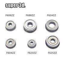 10pcs Flange Ball Bearing F604ZZ/F606ZZ/F623ZZ/F624ZZ/F625ZZ/F688ZZ Deep Groove Pulley Wheel 625zz 623zz 688ZZ 604ZZ 3D Printer