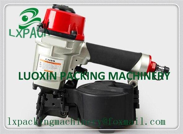 LX-PACK Menor preço de fábrica Industrial Pneumático Da Bobina Nailer Ar Unha Arma Ferramenta nailer bobina industrial para fabricação de paletes