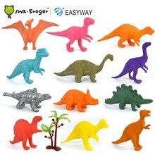Easyway dinosaures modèle mignon animaux cadeaux garçons jouets loisirs enfants Mini petit jurassique plastique dinosaure chiffres 12 pièces ensemble jouet