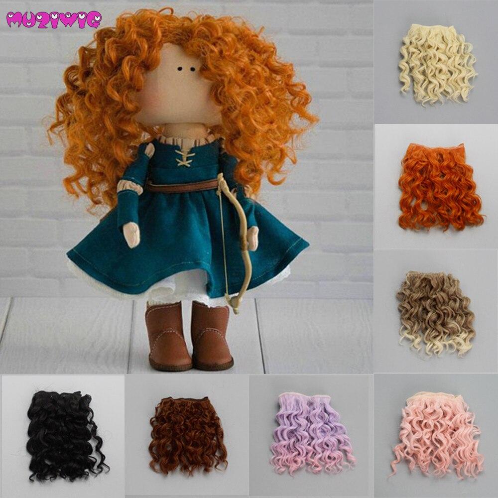 15*100 см завинчивающиеся вьющиеся волосы для наращивания для всех кукол DIY парики для волос термостойкие волокна для волос