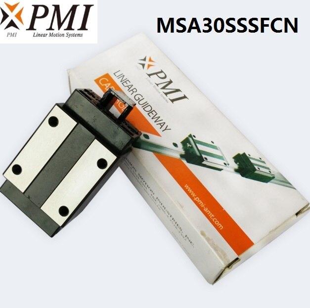 1 قطعة/الوحدة الأصلي تايوان PMI MSA30S-N MSA30SSSFCN الخطي الارشادية انزلاق كتلة النقل لآلة ليزر CO2 MSA30S