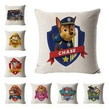 Funda de almohada de garra patrol abrazo sofá cojín almohada ryder patrulla canina anime figuras funda de almohada niños regalos de cumpleaños