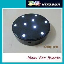 10 pièces/lot Top vente 4 pouces Base de lumière LED/parti faveur lumière LED Base de Vase/pièce maîtresse de fête