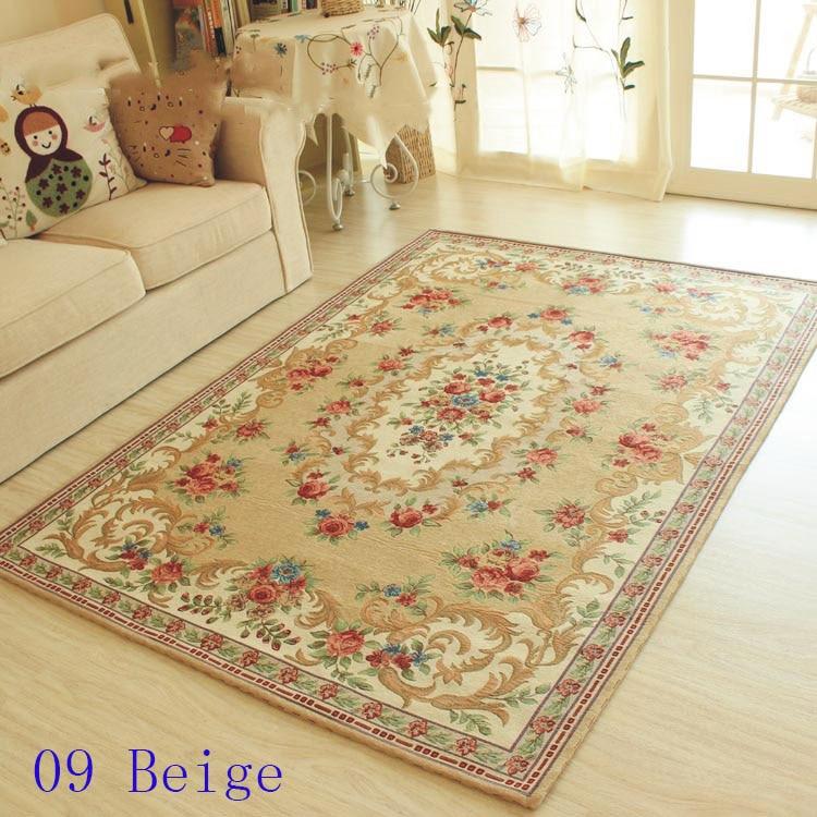 أوروبا نمط غرفة المعيشة البساط ، رومانسية القهوة الجدول حصيرة ، منزل الديكور carpets120cmX180cm