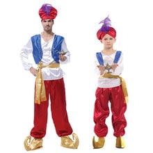 Enfants Lampada Aladdin vêtements garçons Prince vêtements arabie hommes Aladdin Costume jasmin MV Cosplay tenues Anime lampe arabe