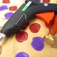 60 W Sıcak Eriyik Tutkal Tabancası Sızdırmazlık Balmumu Sopa damga 100-240 V Elektrikli Isı Sıcaklığı Aracı Fit 11mm çubuk tutkal DIY Aracı ABD Plug