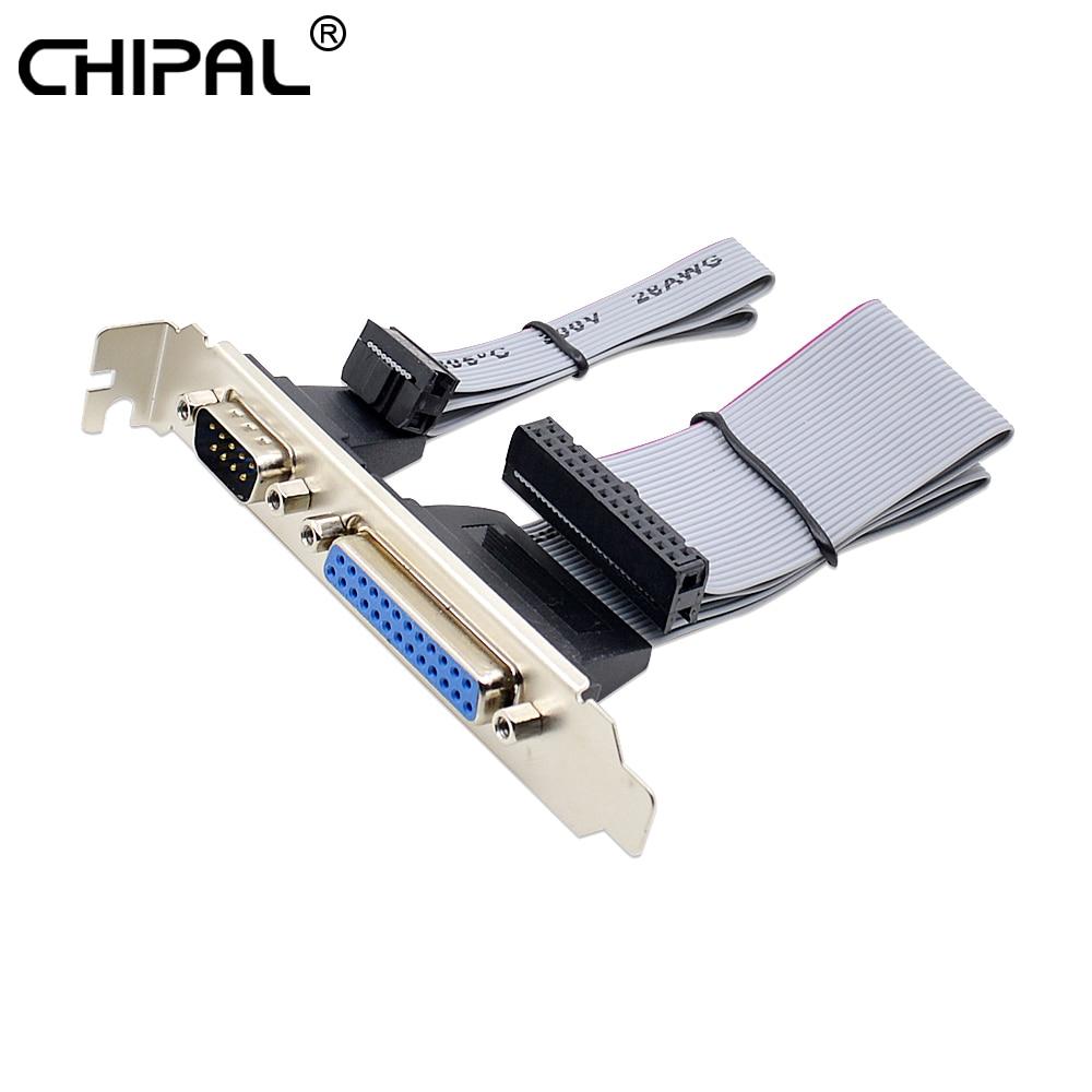 Для PCI Slot Header Serial DB9 Pin с параллельным DB25 Pin кабелем 28,5 см с кронштейном для параллельного принтер LPT COM Serial