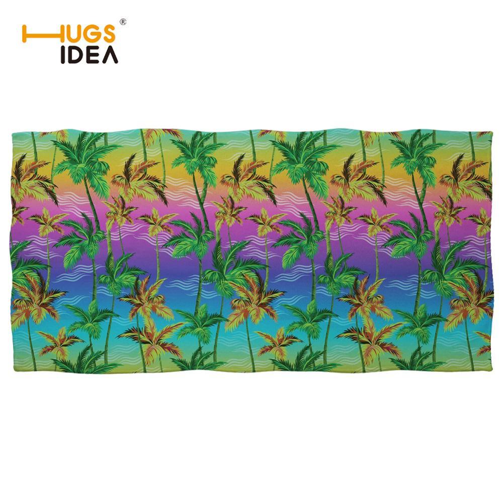 Multicolor Palmeira Praia Toalha Macia Absorvente Natação Toalha de Banho Floral Mulheres Secagem Toalhinha Swimwear Shower Blanket Engraçado
